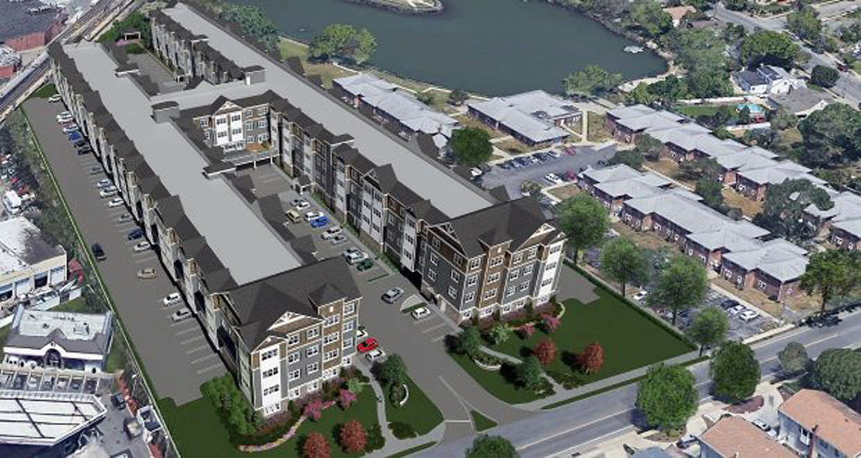 East Rockaway residents offered varying perspectives about a $60 million, 230-unit apartment complex being built in Oceanside.