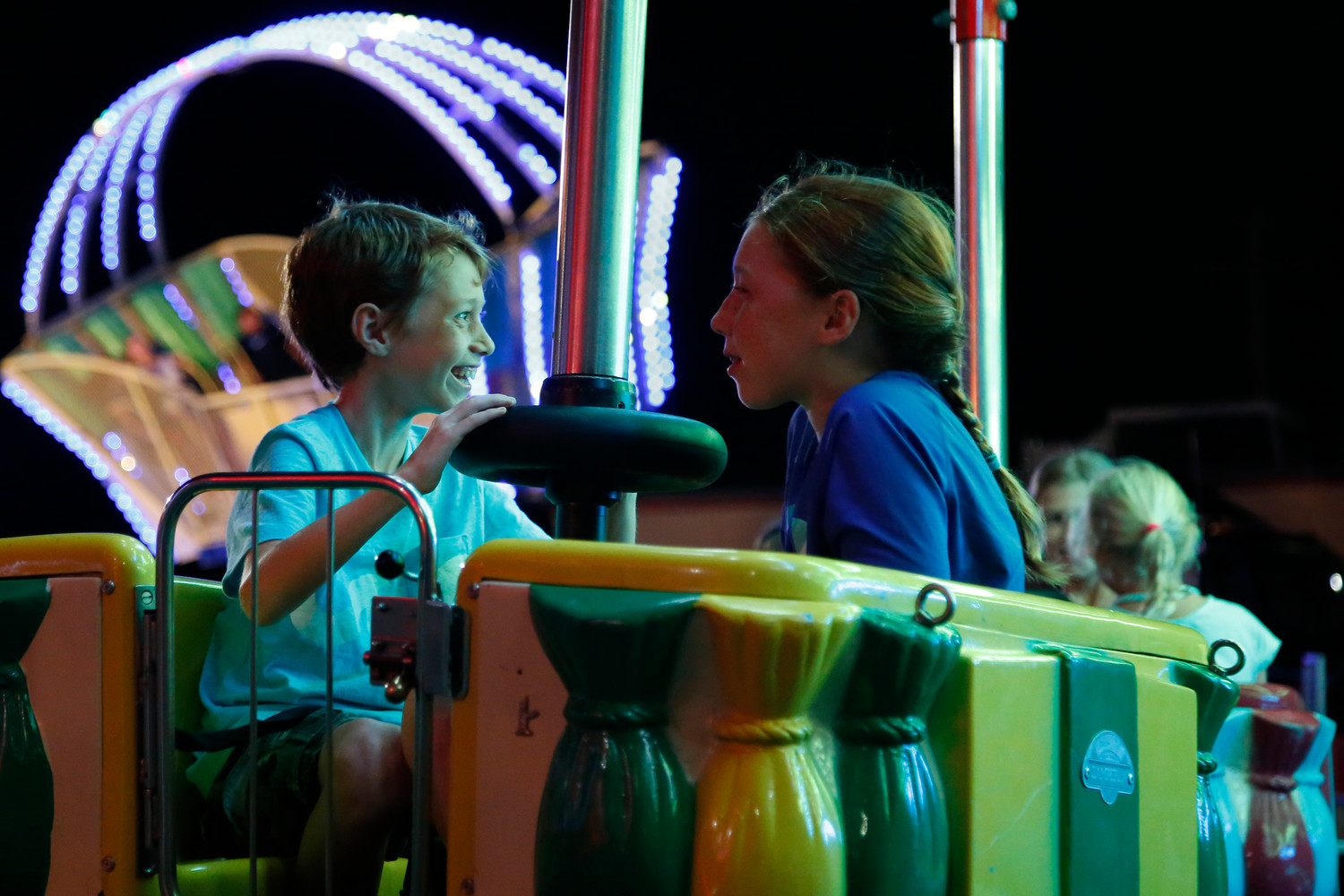 East Rockaway's annual Stars & Stripes Festival is set for Thursday through Saturday and offers plenty of activities. Last year, Liam and Avery enjoyed a spin on one of the many rides at the event.