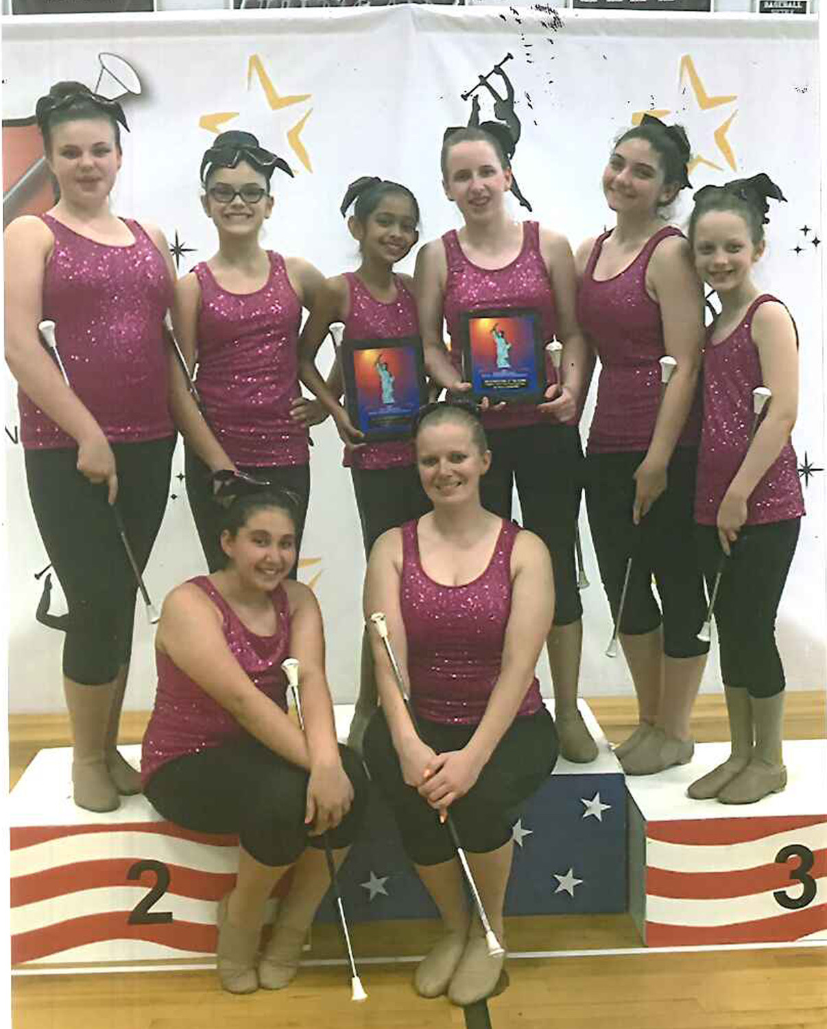 The Thunderettes team that took first place in Kutztown, Pa., in June.