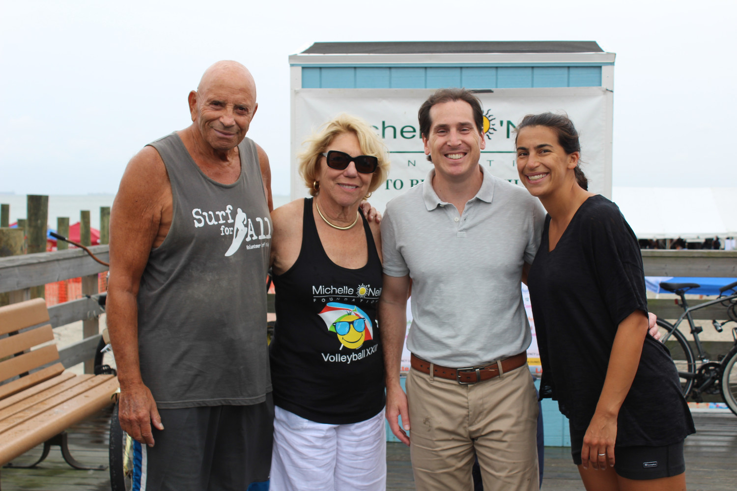 Former state Assemblyman Harvey Weisenberg, left, with Carol O'Neill, State Sen. Todd Kaminsky, and his wife Ellen.