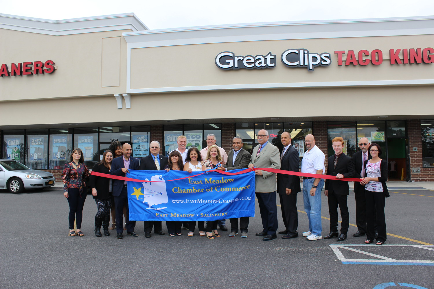 Business leaders and elected officials welcomed Great Clips to the community with a ribbon cutting on Sept. 7, presented by the East Meadow Chamber of Commerce.