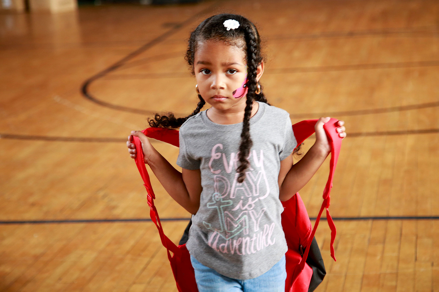 A new backpack is all part of 5-year old Sofia Hernandez's journey.