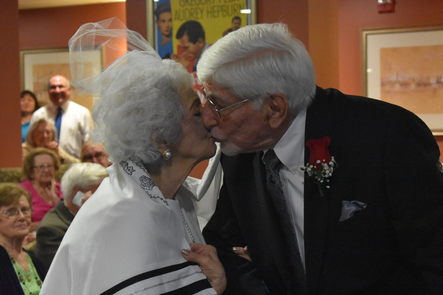 Patricia and Arthur shared an intimate moment in front of the dozens in attendance.