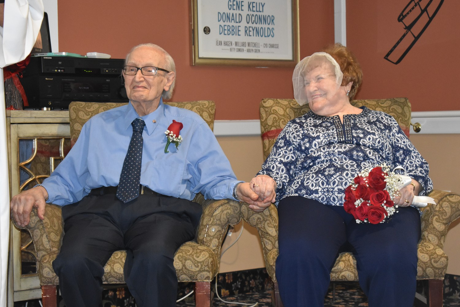 Joe and Florence Saitta listened to Msgr. Koenig before renewing their vows.