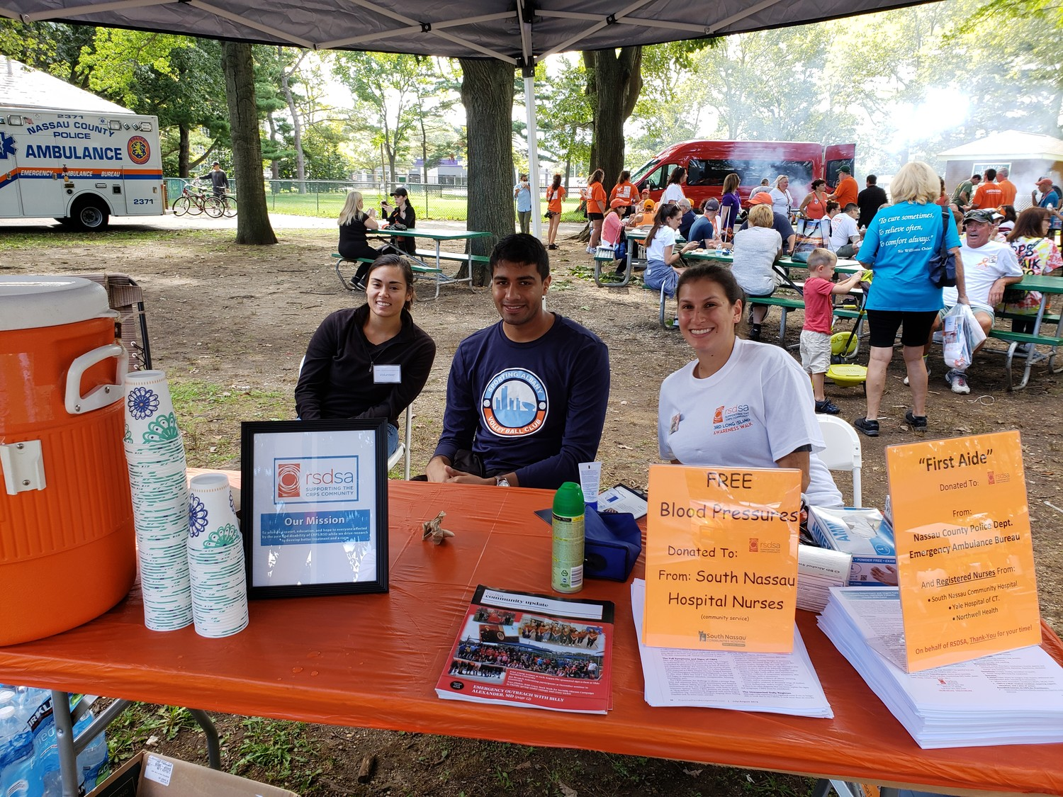 The Reflex Sympathetic Dystrophy Syndrome Association held its third annual walk at Eisenhower Park on Sept. 15.