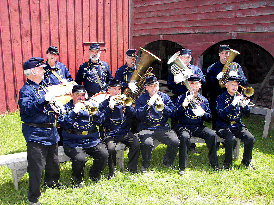 A brass band performs rousing tunes throughout the weekend.