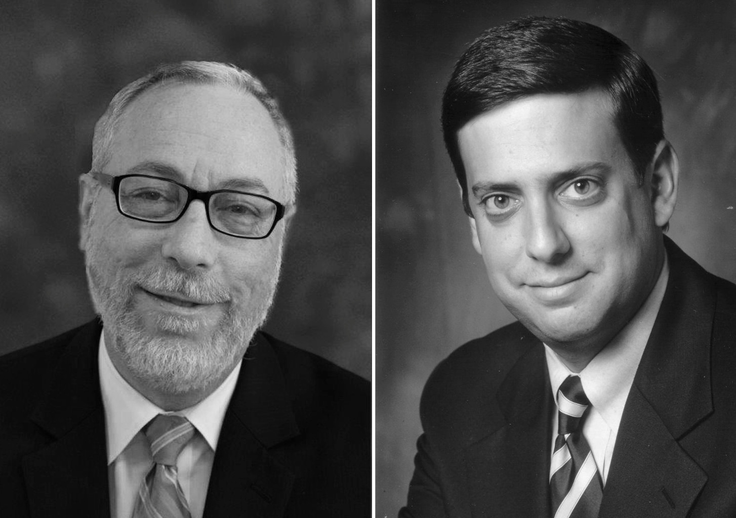 Rabbi Aaron Glatt, M.D., left, and Nathan Diament