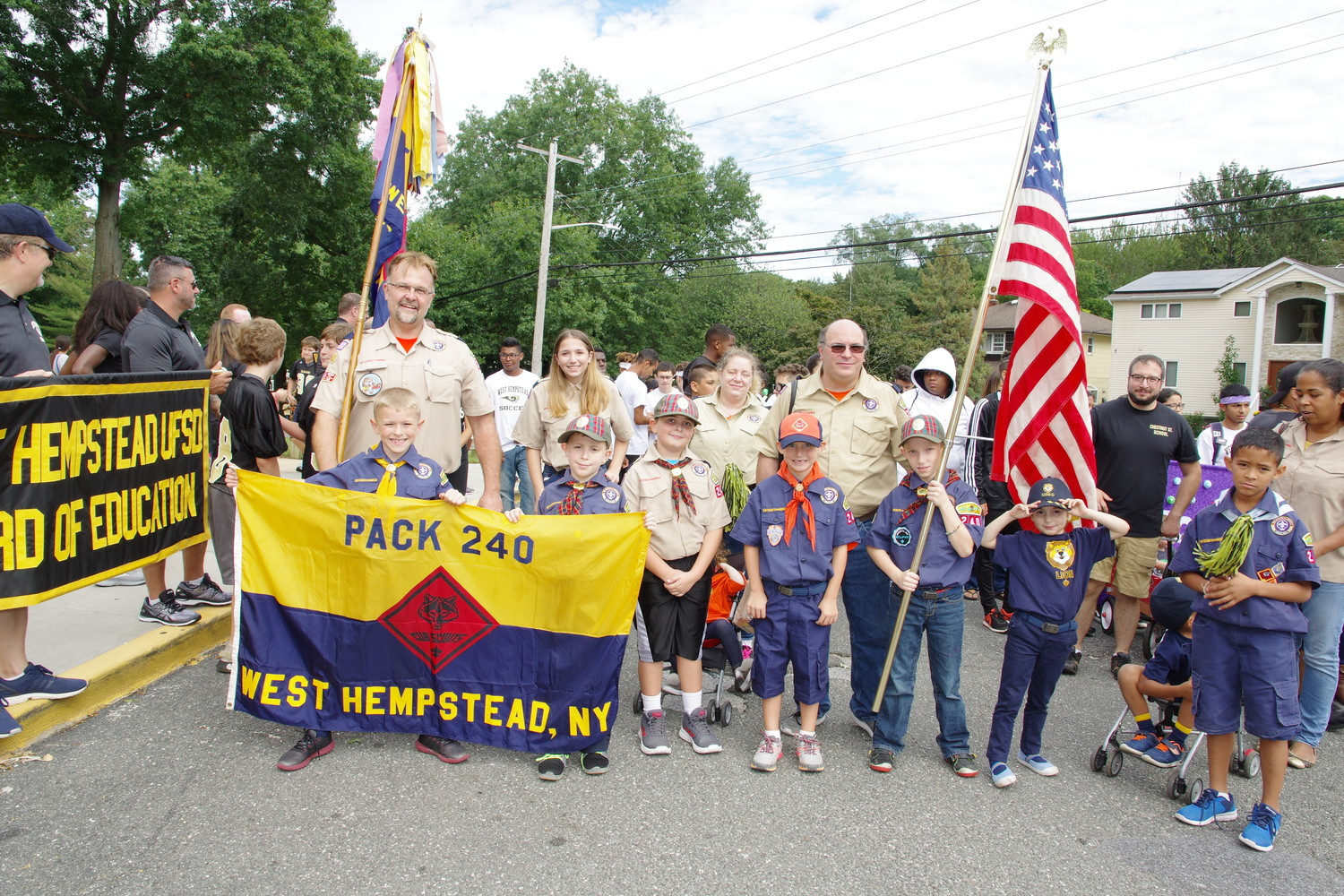 West Hempstead's Cub Scout Pack 240 showed their community pride at the parade.