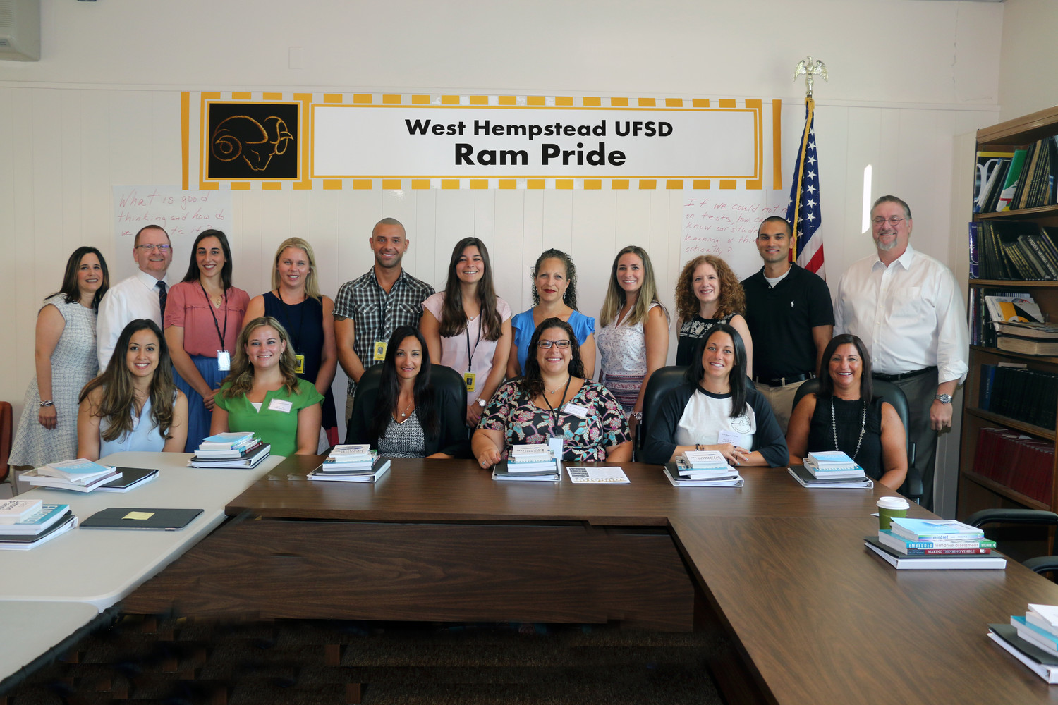 The West Hempstead School District extended a warm welcome to 14 new staff members during a two-day orientation program on Aug. 29-30.