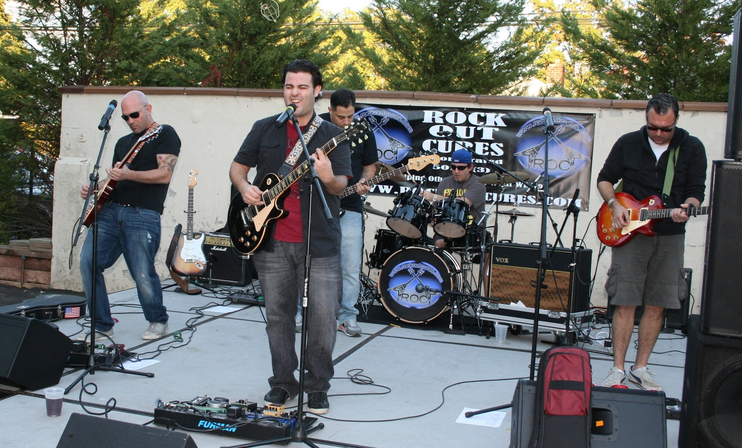 The Modern Justice cover band took the stage at the sixth Rock Out Cures benefit in 2013. This year's benefit will take place at Plattdeutsche Park Restaurant on Sept 22.