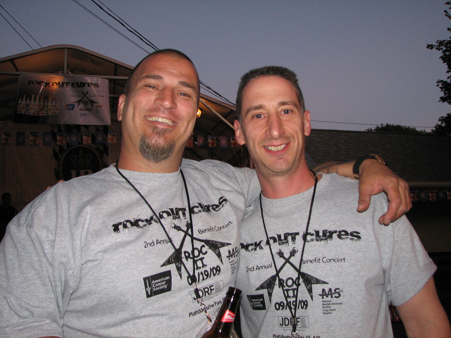 Rock Out Cures founders James Gangone, and Bryan Mayer came up with the idea for a benefit in 2008.