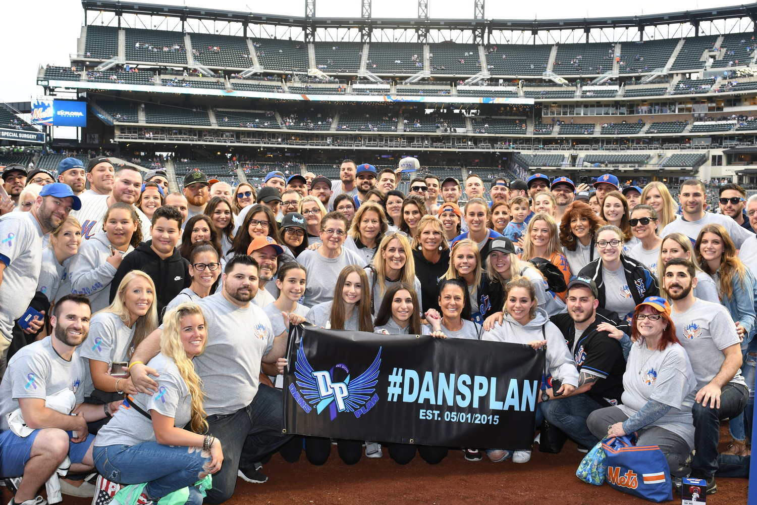 More than 150 local residents went out to Citi Field this summer for Dan's Plan's annual New York Mets outing to honor the memory of Franklin Square resident Dan Babich, whose suicide struck the community in 2015.