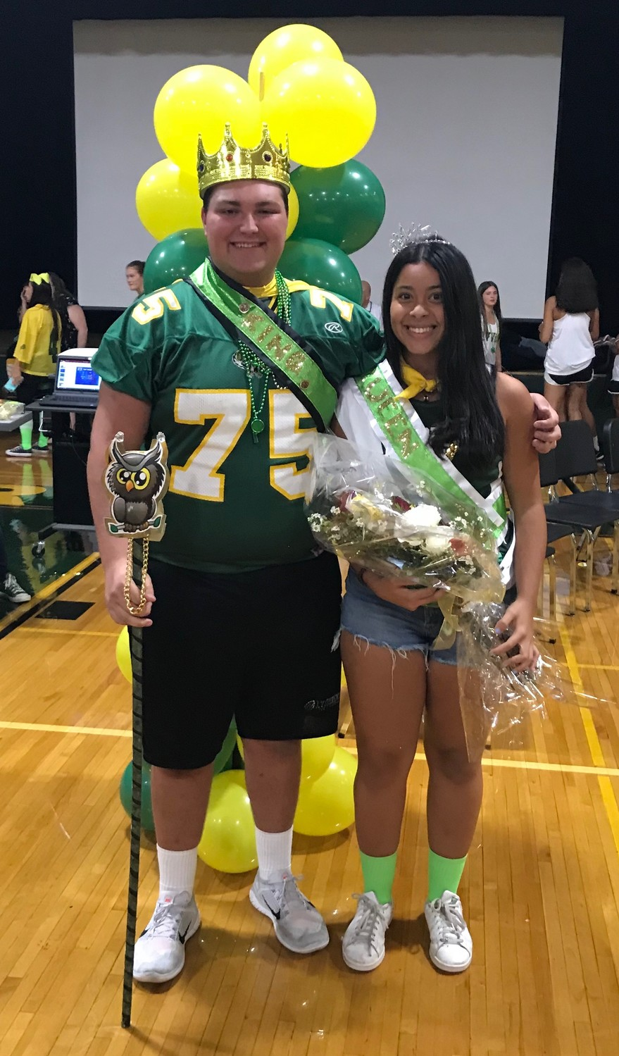 Griffin Kirby and Angelica Almonte served as Homecoming king and queen.