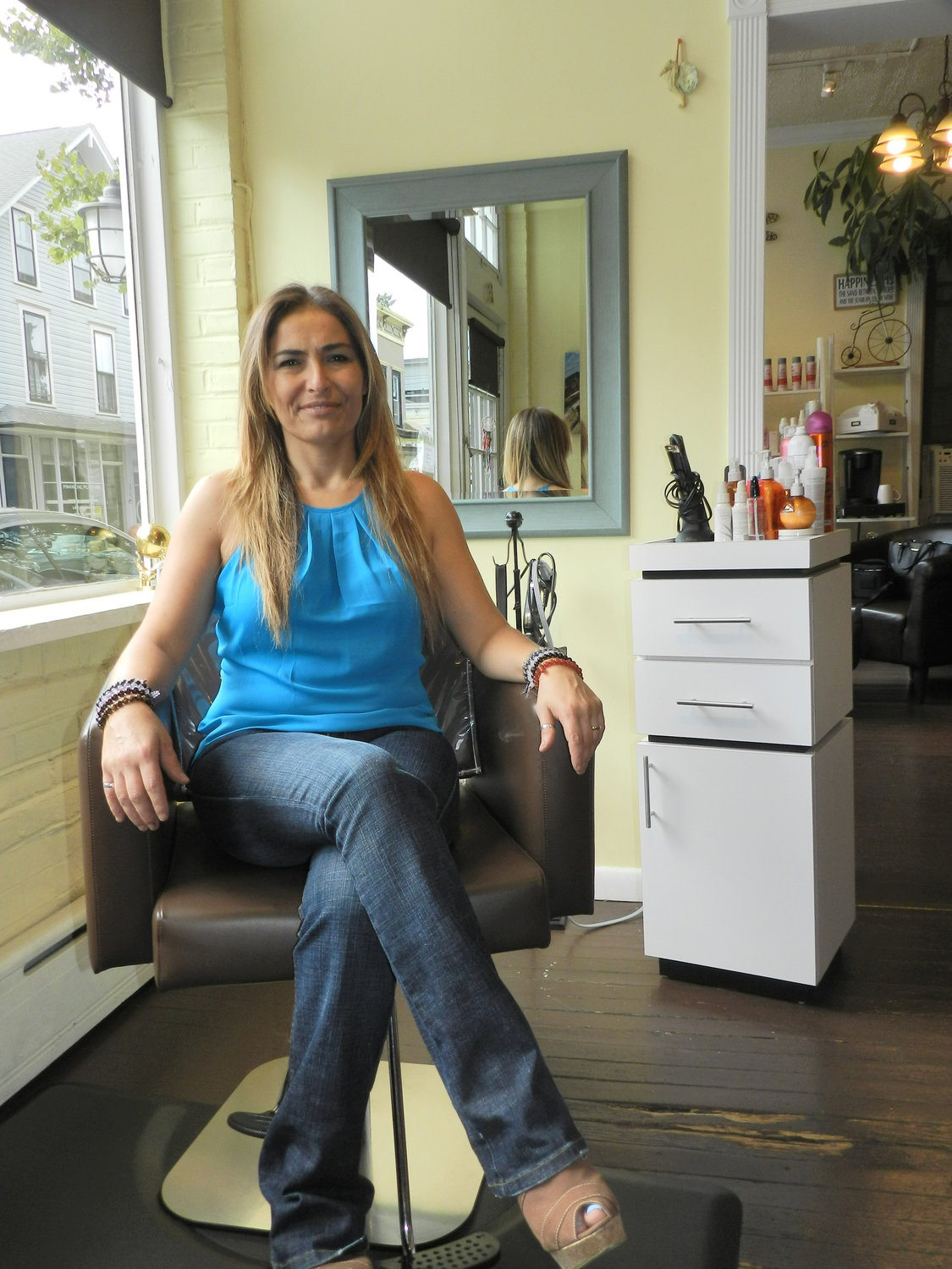 Hairdresser Graciela Bustos, who is originally from Argentina, opened Salon Solis in Sea Cliff in 2012.