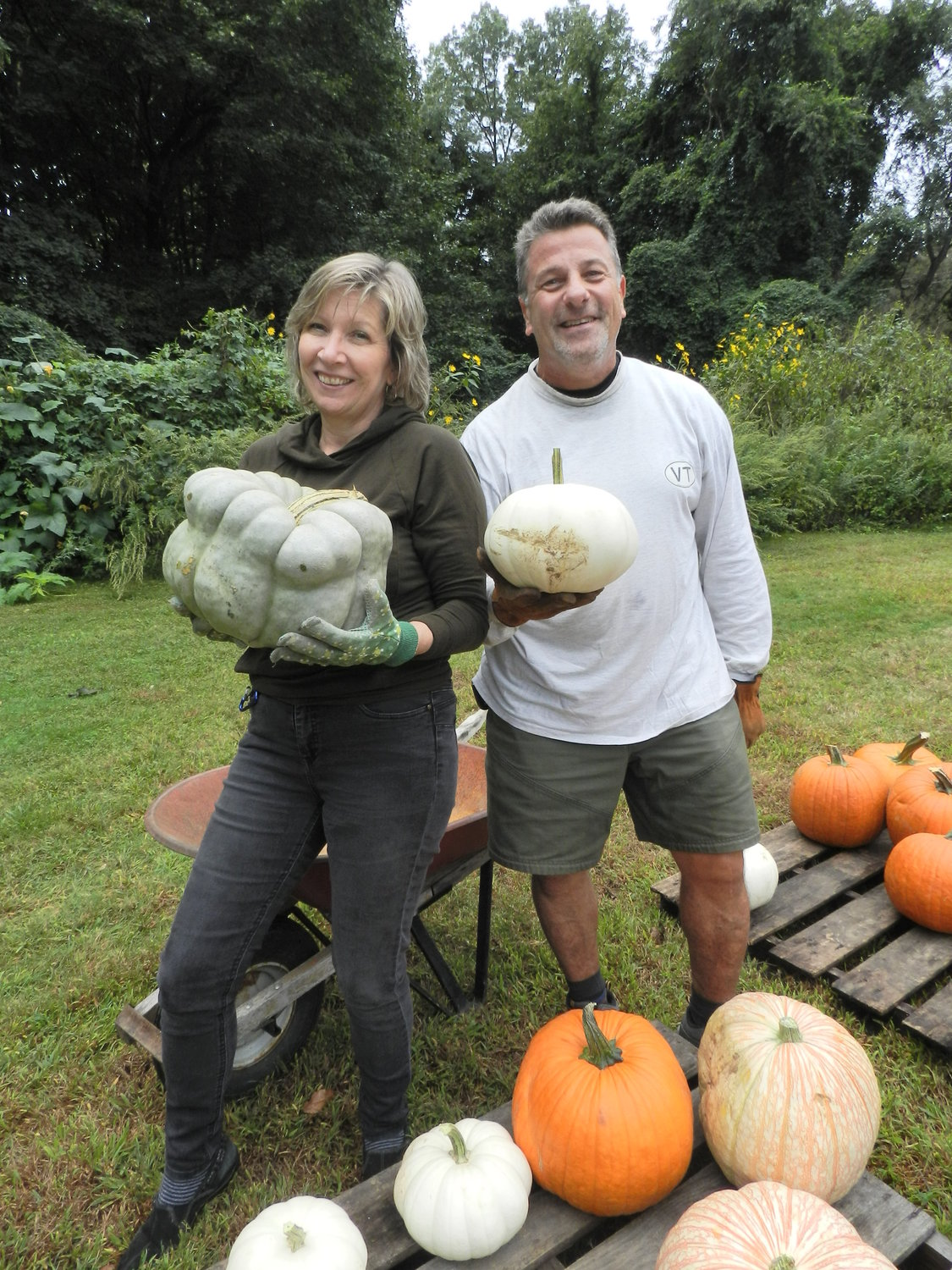 Glen Cove residents Patti Wolf and Mike Carletti, parishioners of United Methodist found a couple of unique pumpkins.