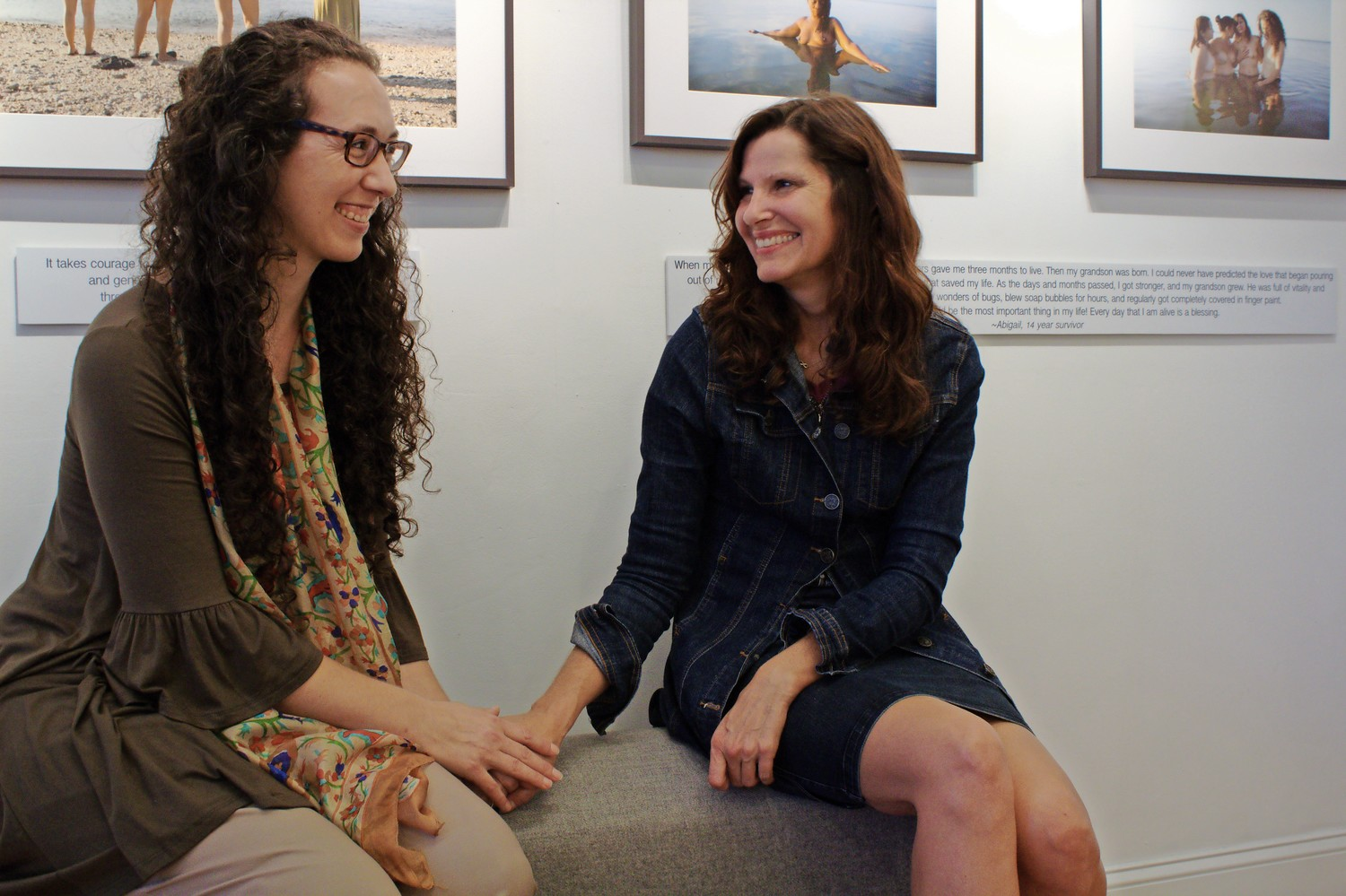 "Rebecca Pine, left, co-founder of ""The Breast and The Sea,"" with Doris Jelinek, the third person she interviewed for her writing project."