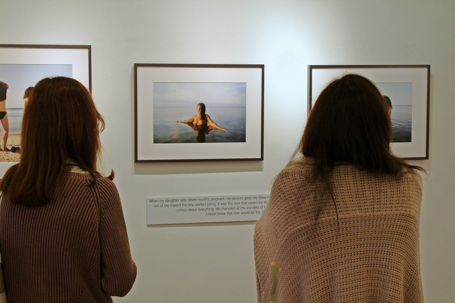 the FotoFoto gallery showcased Pine and Miana Jun's artwork through Sept. 29. The women featured in the photos took part in workshops that allowed them to share their feelings and develop relationships with one another.