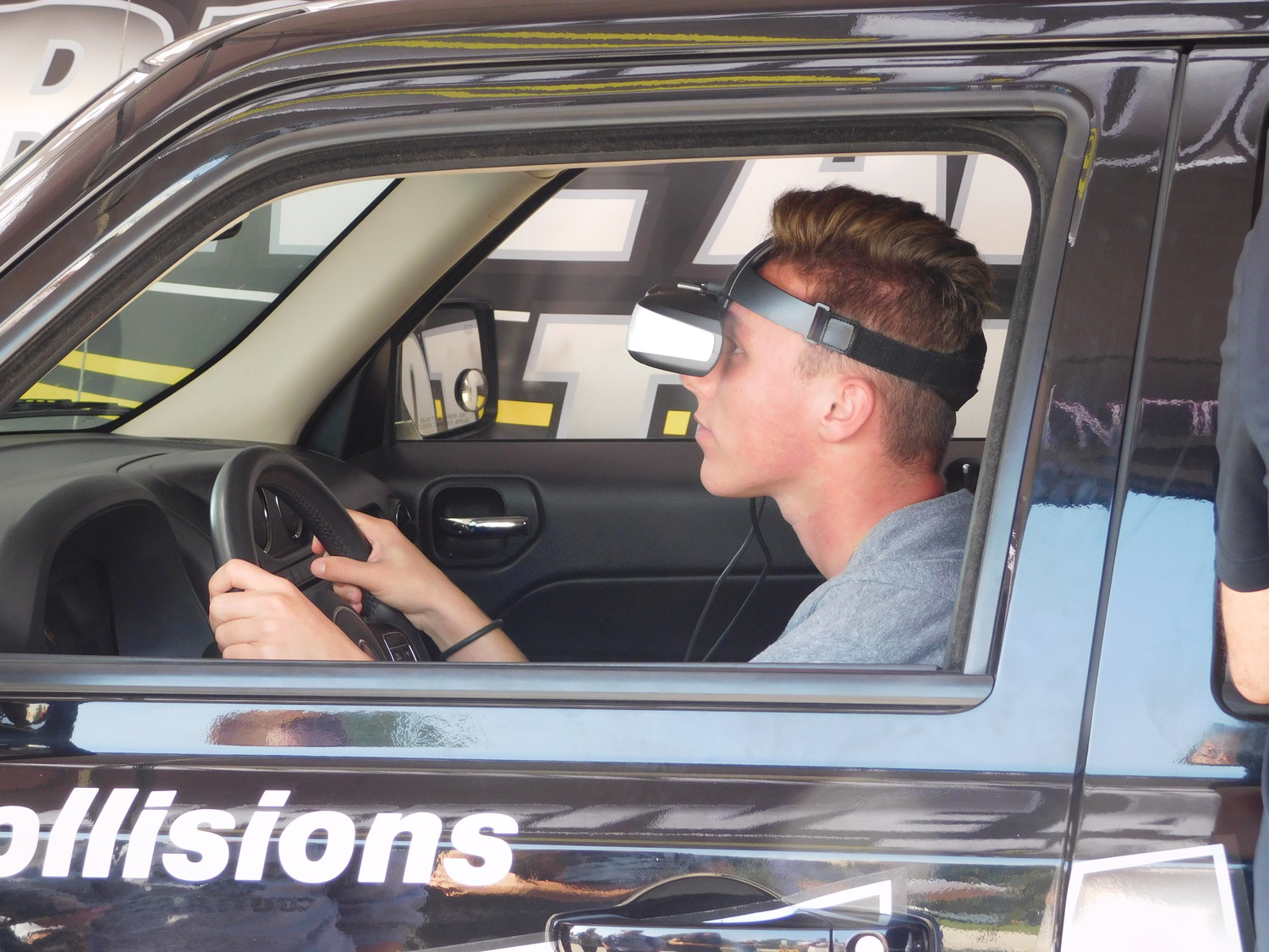 Jason Baker tried to focus, but the impairment got the better of him — his simulation ended in a crash.