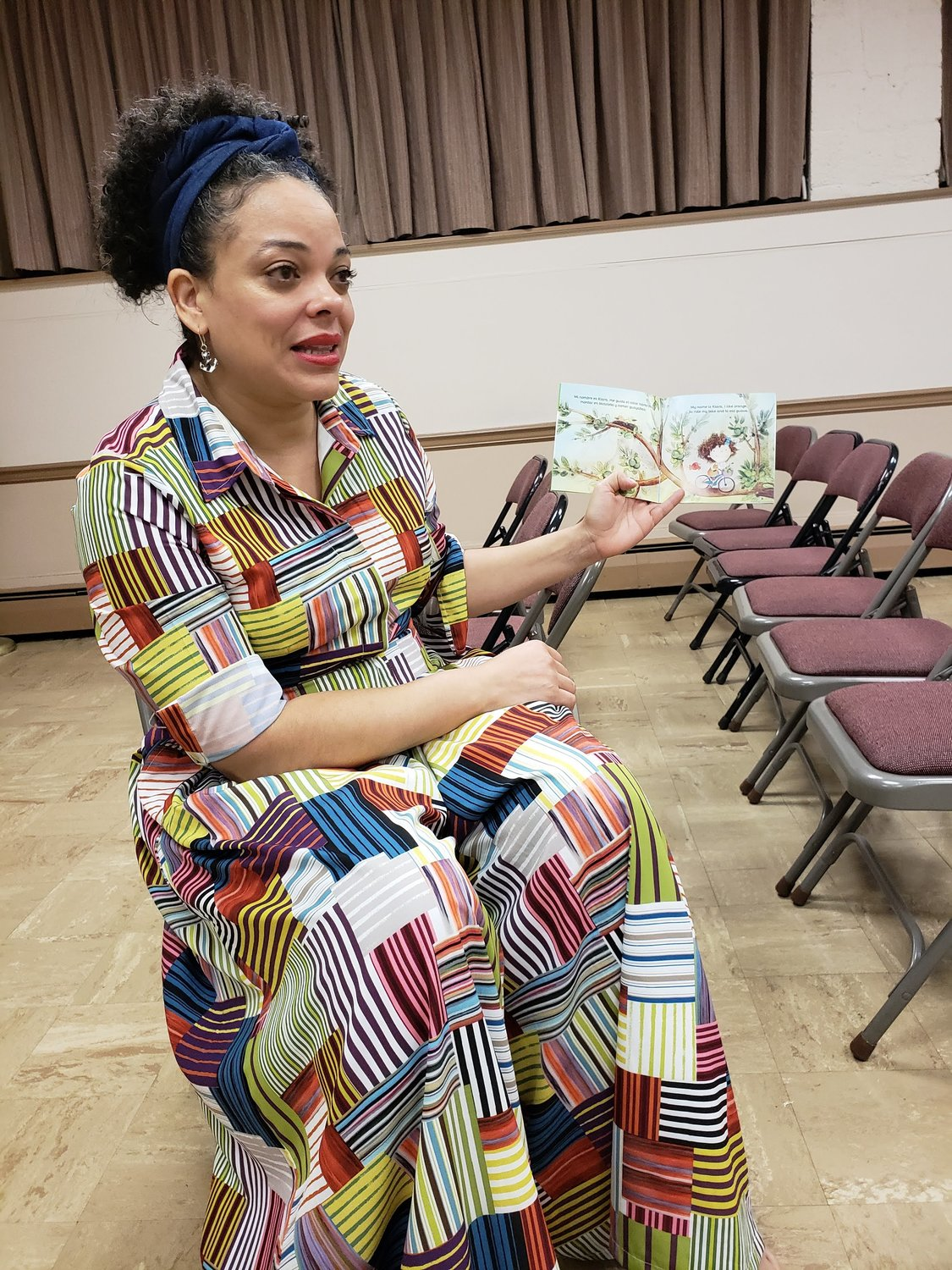 Author Kianny Antigua, who is also an adjunct professor at Dartmouth College in New Hampshire, presented her collection of books and stories at the Freeport Memorial Library on Sept. 28.