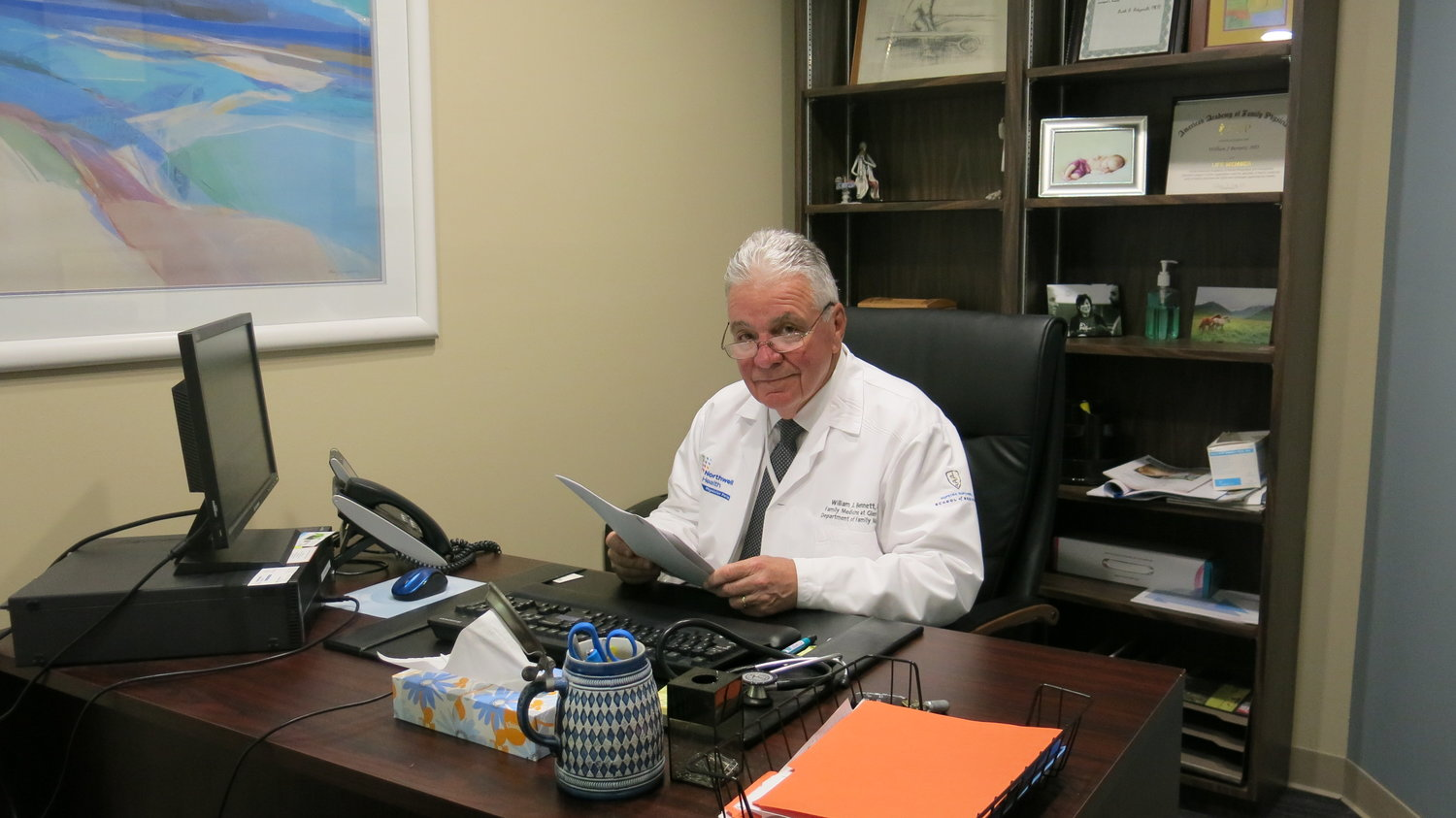 Dr. William Bennett has had an office in Oyster Bay for 40 years. He continues to enjoy the challenges of medicine and a changing healthcare system.