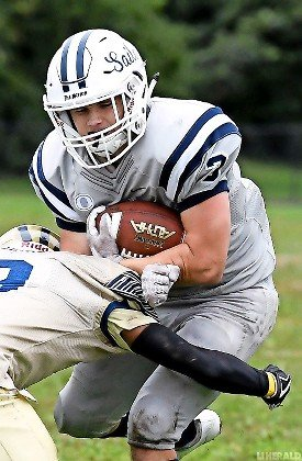 Sophomore Thomas Flavin had rushing and receiving touchdowns for the Sailors in last Saturday's 35-0 victory at Baldwin.