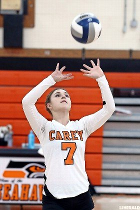 Junior setter Carley Vincenzi had 30 assists for the Lady Seahawks as they rallied from two sets down to defeat Elmont on Sept. 27.