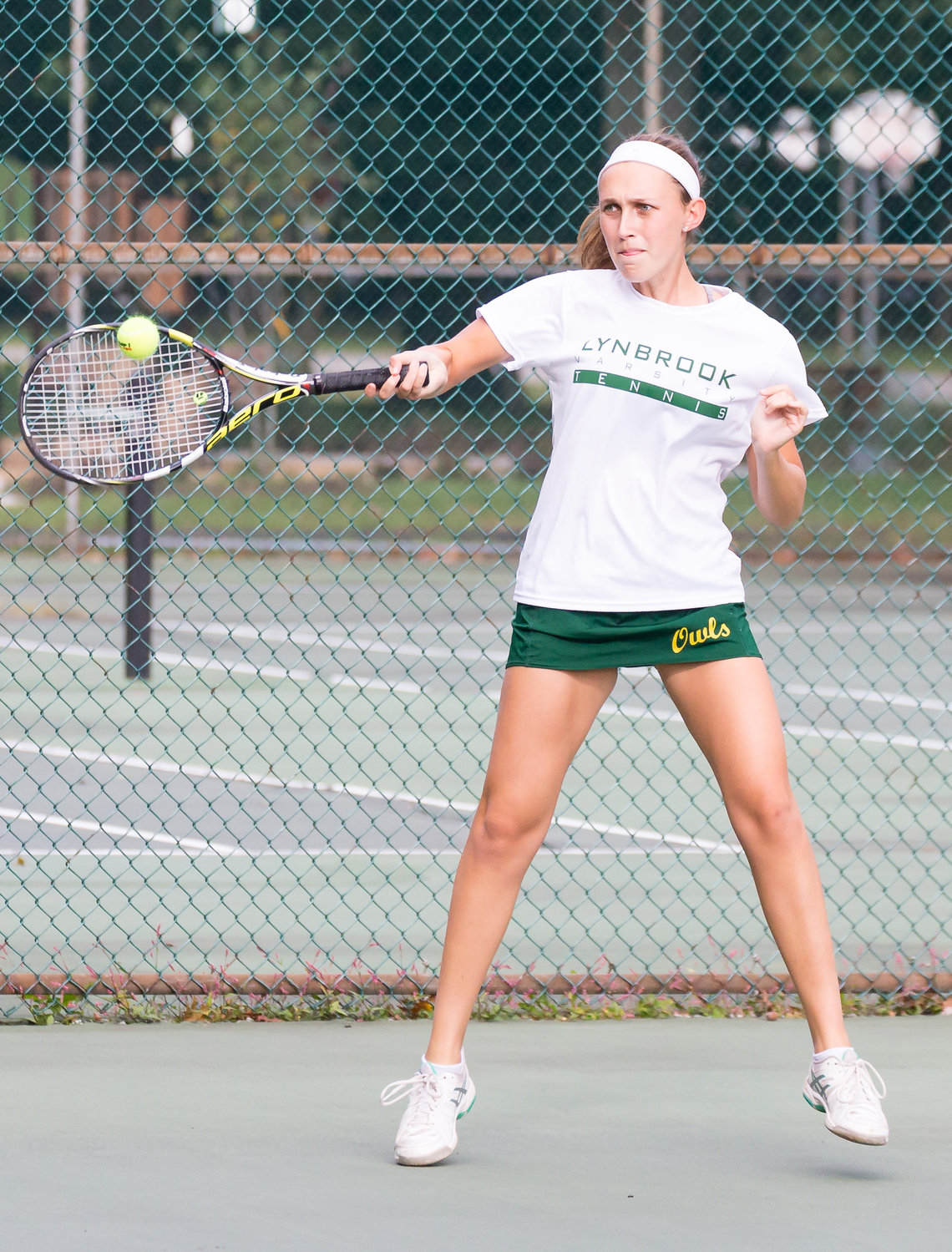 Senior Casey Kaplan is the top singles player for the Lady Owls, who were victorious in 11 of their first 12 matches.