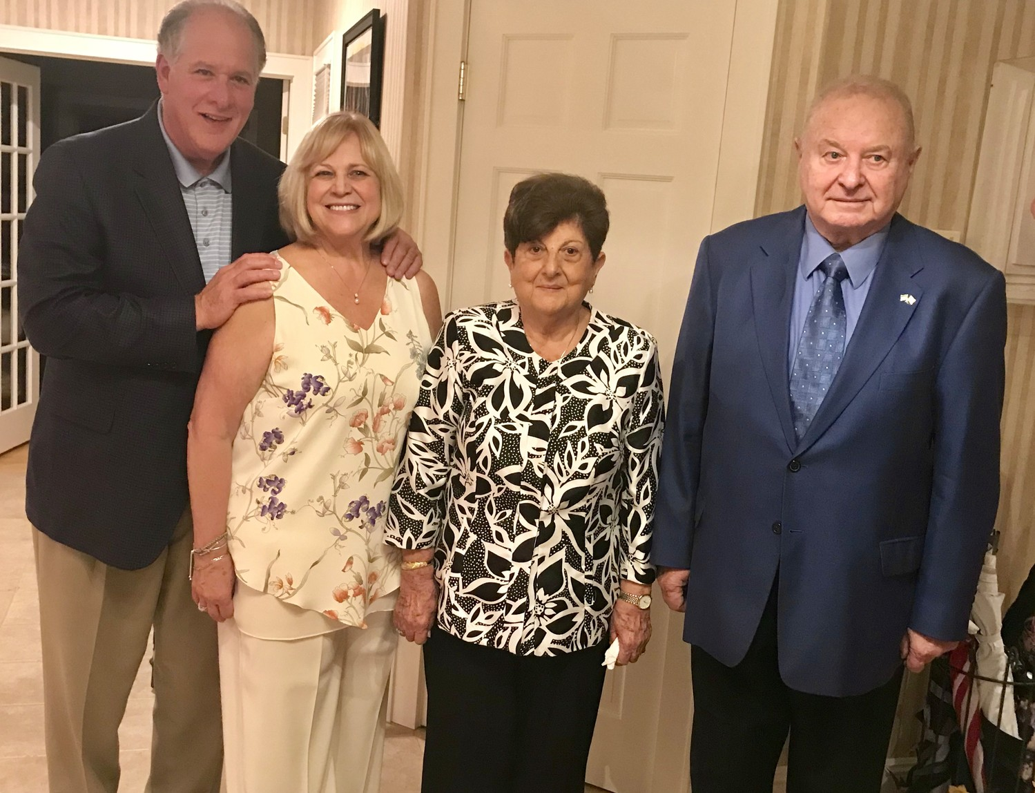 Anthony Cancellieri, left, and his wife, Mary Lou, along with Betty and Jules Abramson, have long supported the Rockville Centre Guild for the Arts.