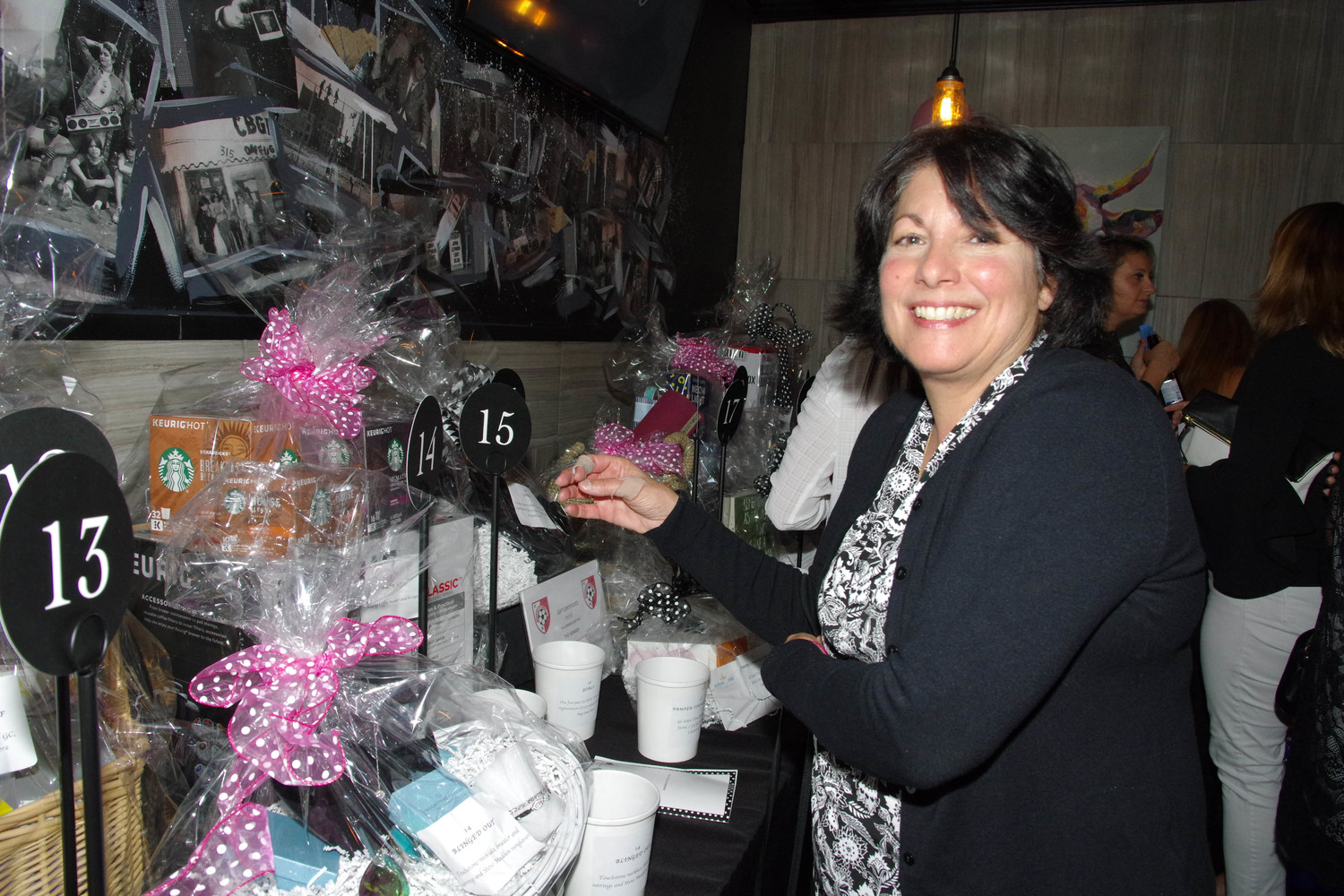 Joanna Bencivenga browsed the raffle prizes.
