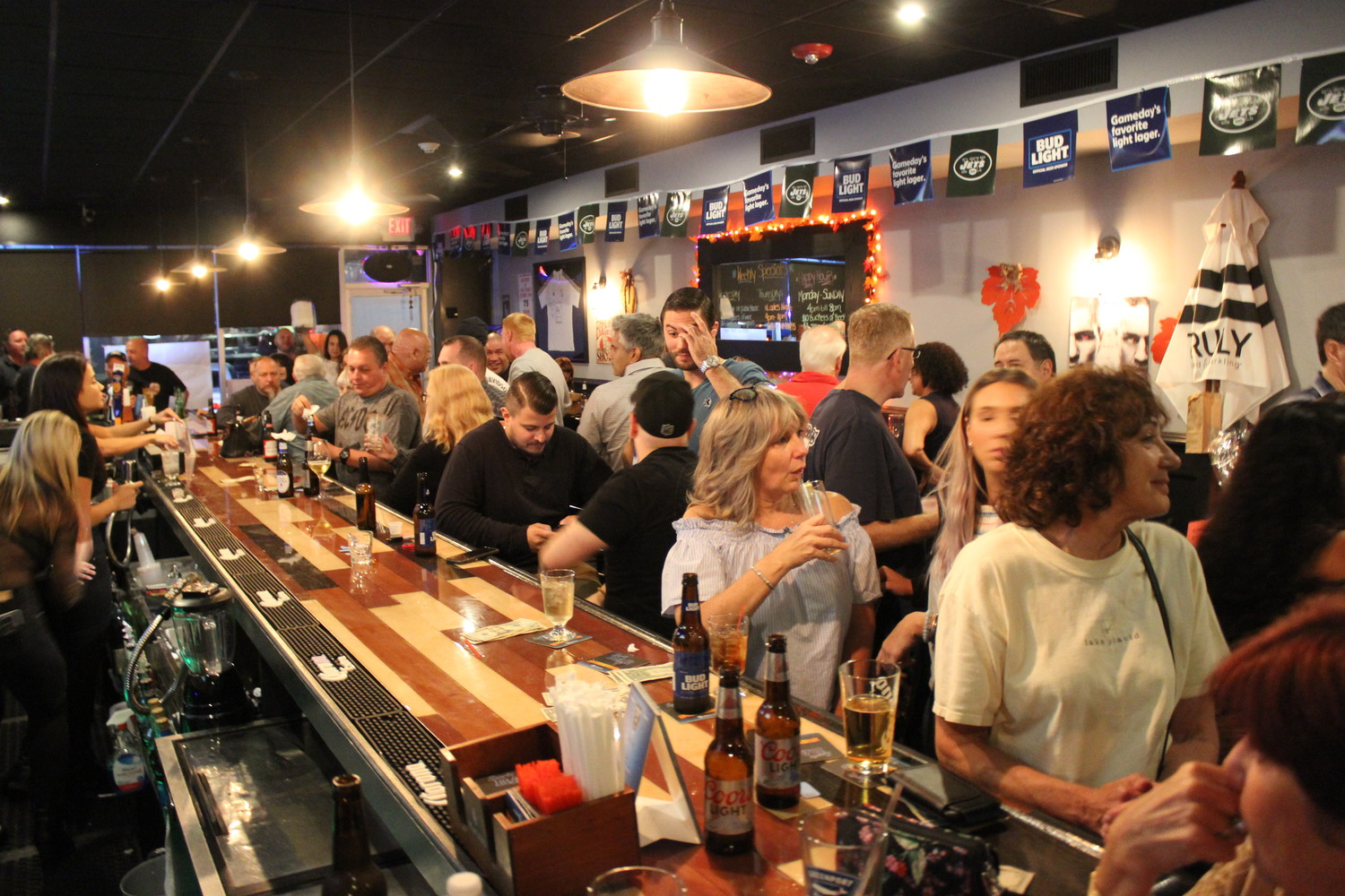 Public House 106 was crowded with people who gathered to show their support for the American Legion at its fundraiser on Oct. 5.