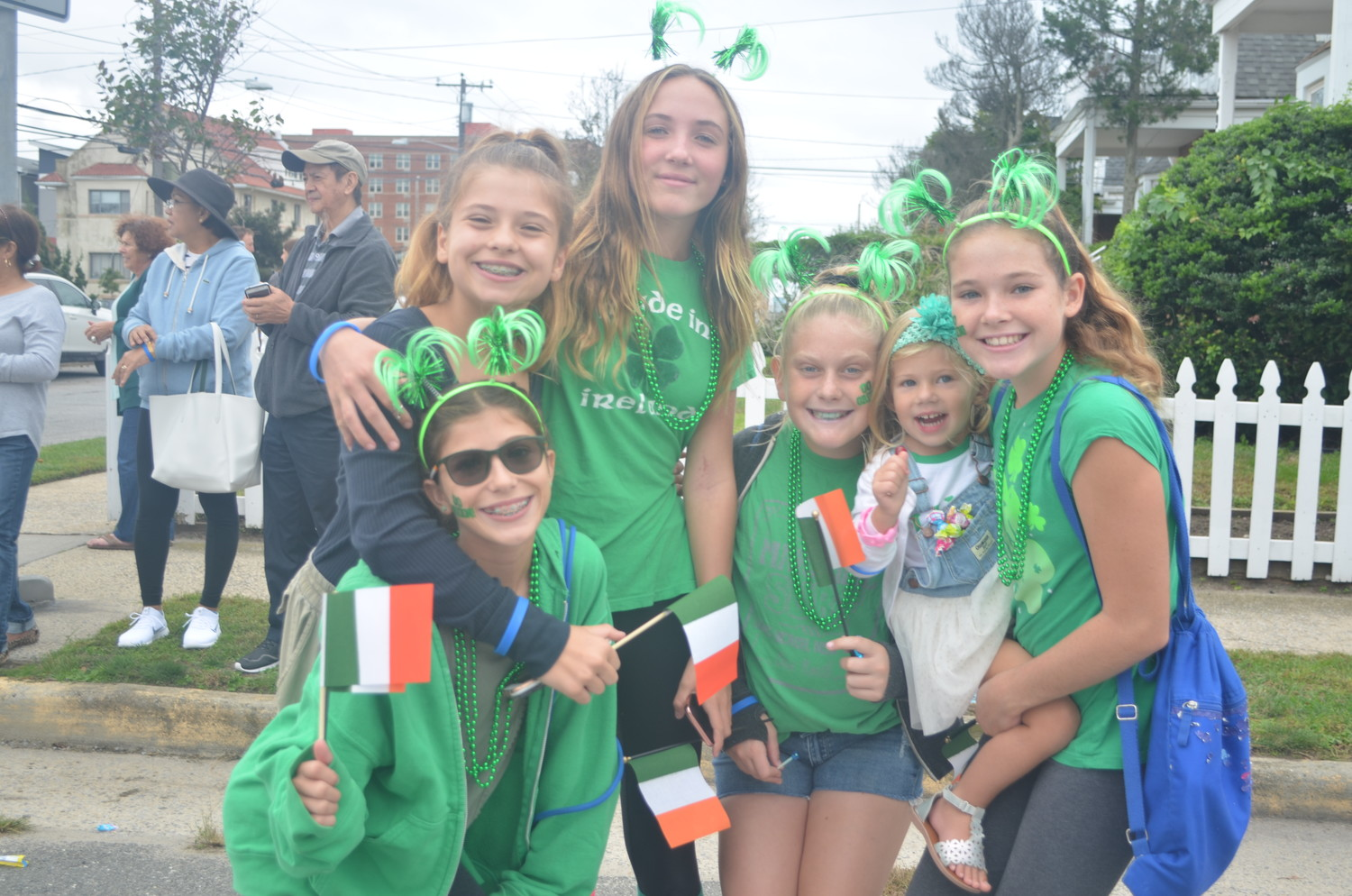 Parade-goers wore festive accessories to celebrate the Irish culture.