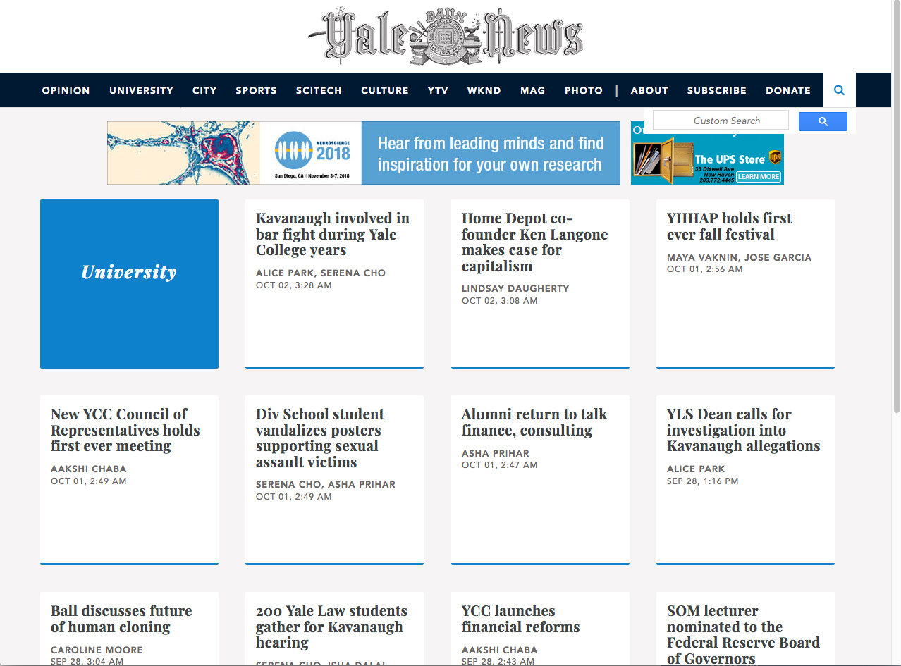 Woodmere resident Lenny Khazan, a Hewlett High graduate, is part of the web development team for the Yale Daily News.