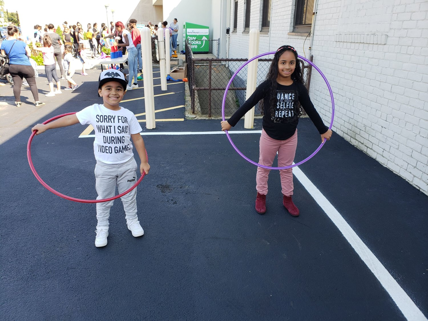 Julian Pichardo, and his sister Amy, were all smiles during the Fall Festival at Freeport Memorial Library.