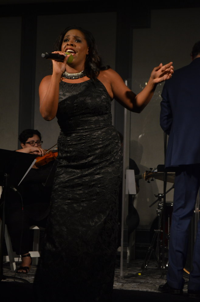 Award-winning star Bryonha Marie Parham was one of four performers who provided the crowd with live entertainment in the form of a Broadway revue.