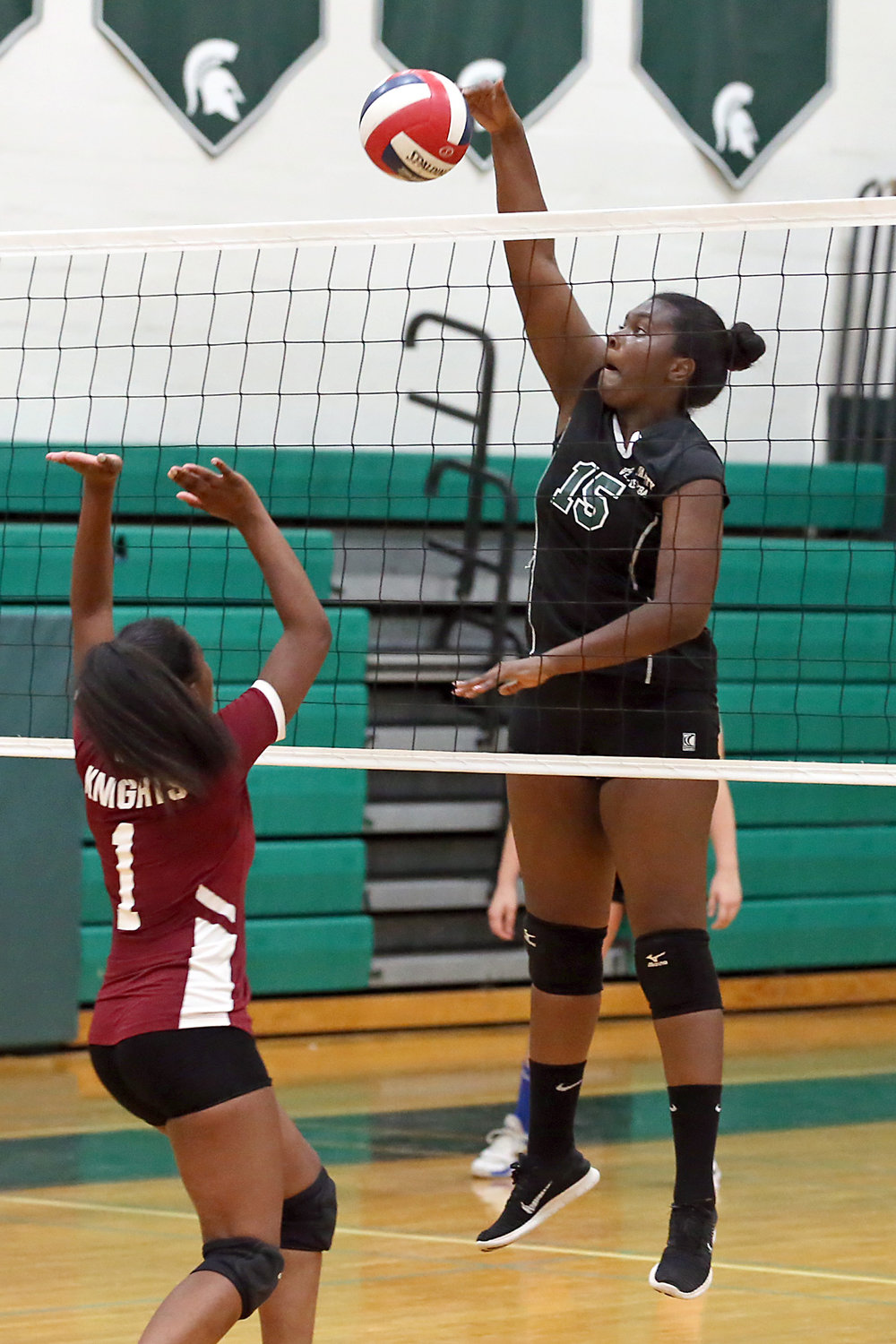 Sophomore Sasha Smalls has played big at the net for Valley Stream North, which is on the verge of capturing the conference title.