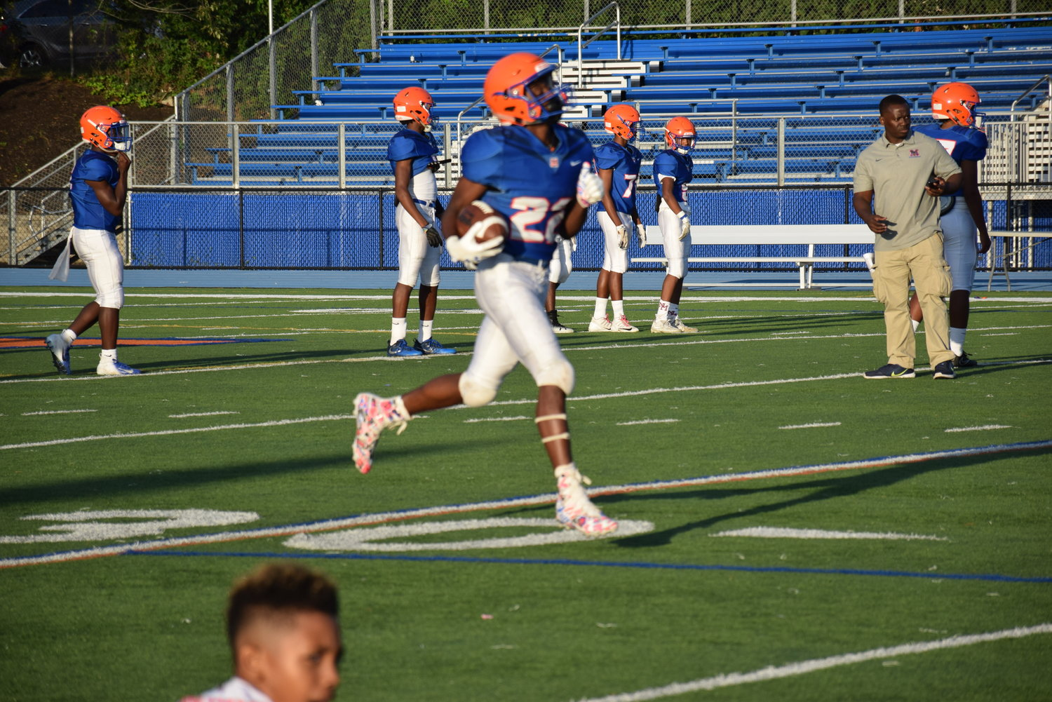 The Malverne Mules defended their home field with a 18-13 victory.