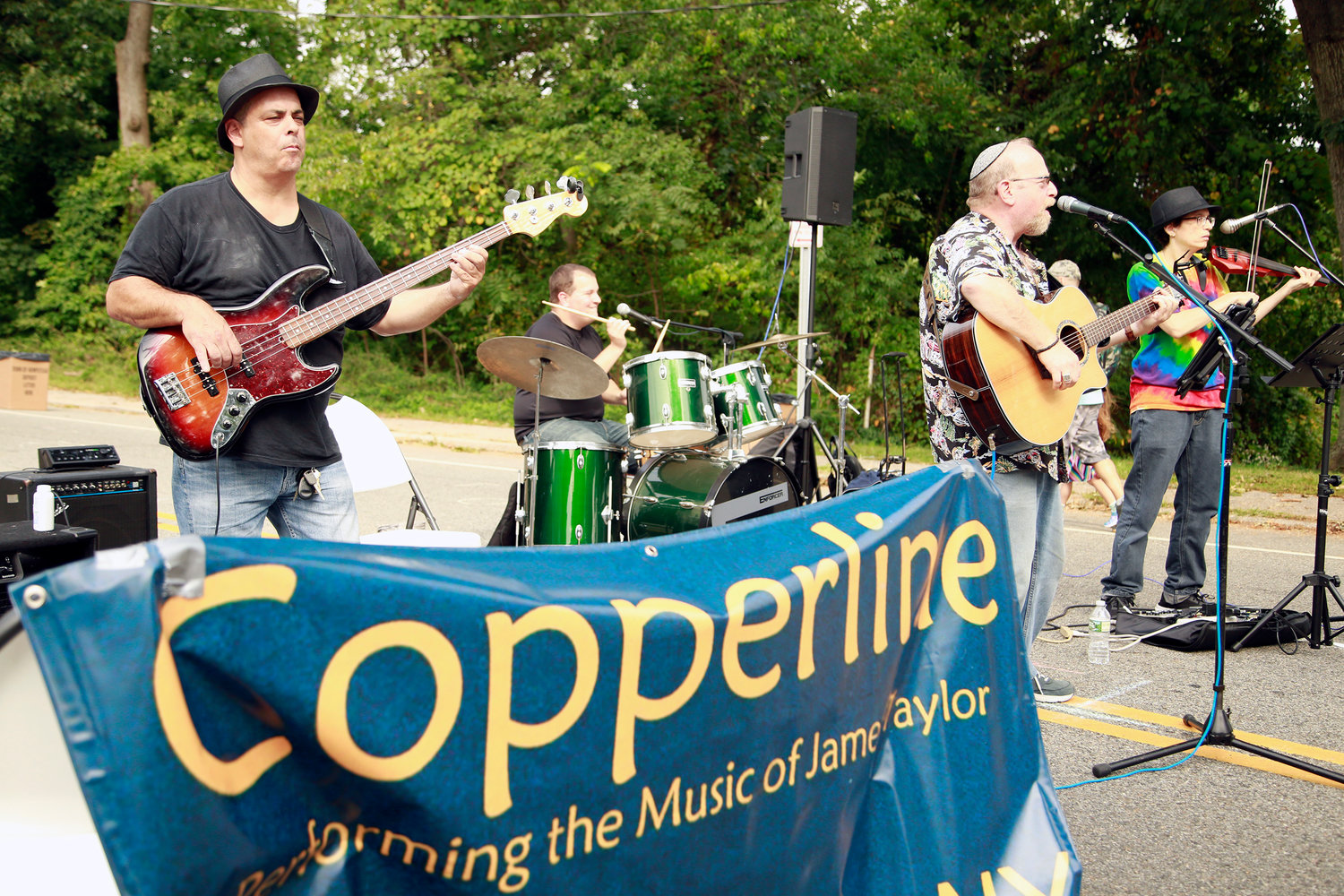 The band, Copperline covered music legend James Taylor's hit songs