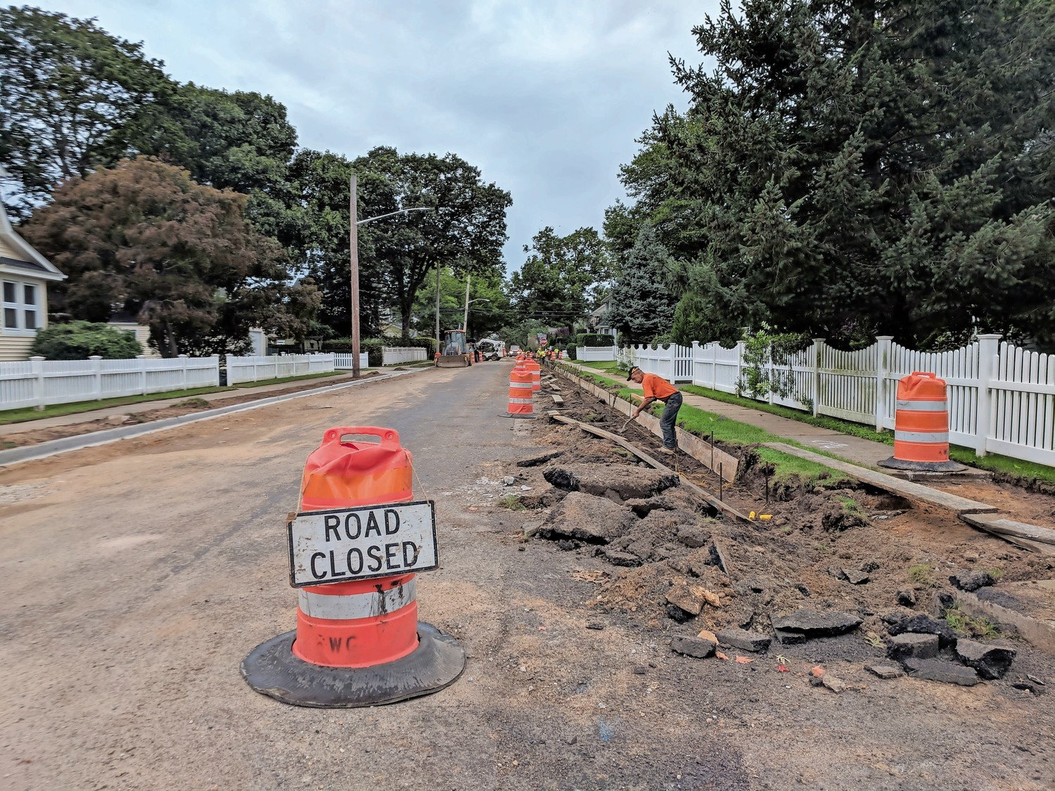 Roadwork took place last week on Locust Avenue, a street initially lined with towering trees, most of which were removed due to disease or complications with the infrastructure underneath.
