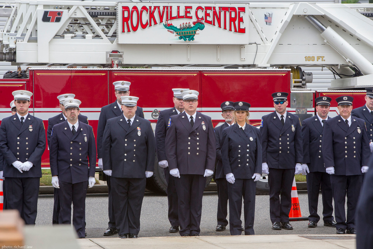 Firefighters remembered fallen heroes.