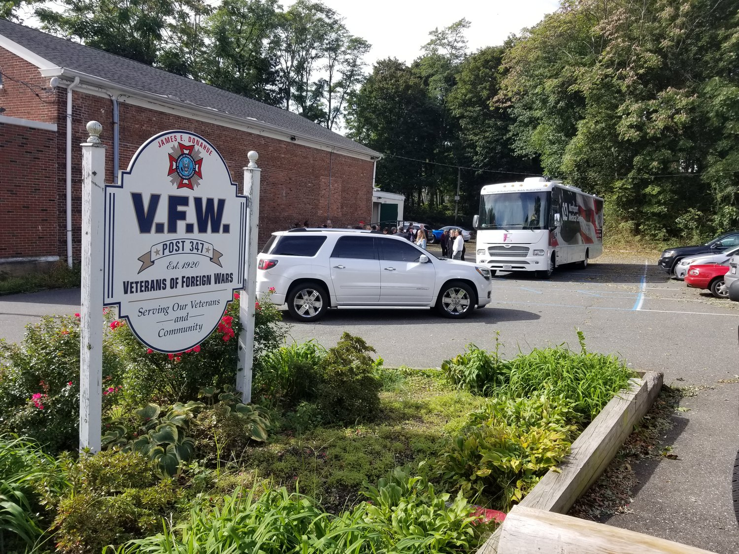 The mobile unit will be parked in the lot of the Glen Cove VFW Post 347.