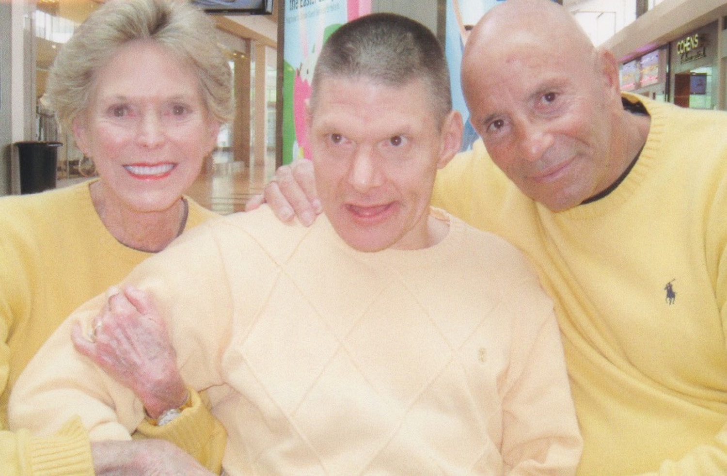 Harvey Weisenberg, right, with his late wife, Ellen, and son, Ricky.