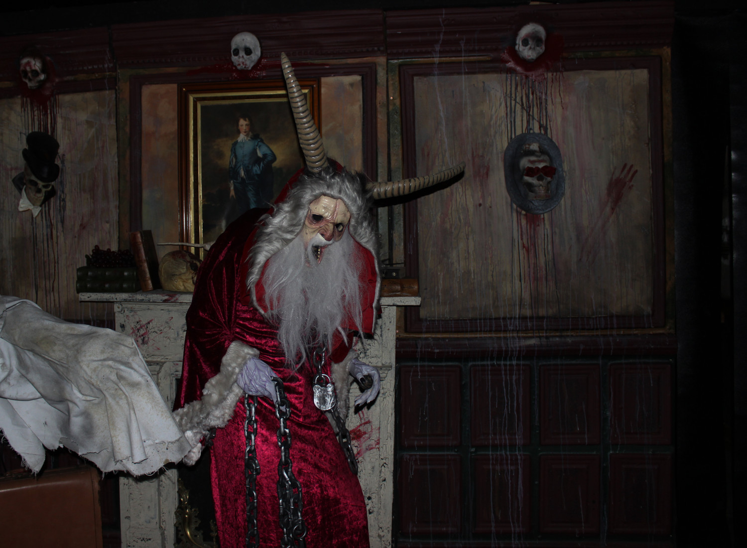 Some of Blood Manor's ghouls are inspired by ancient beasts like the Germanic demon Krampus.