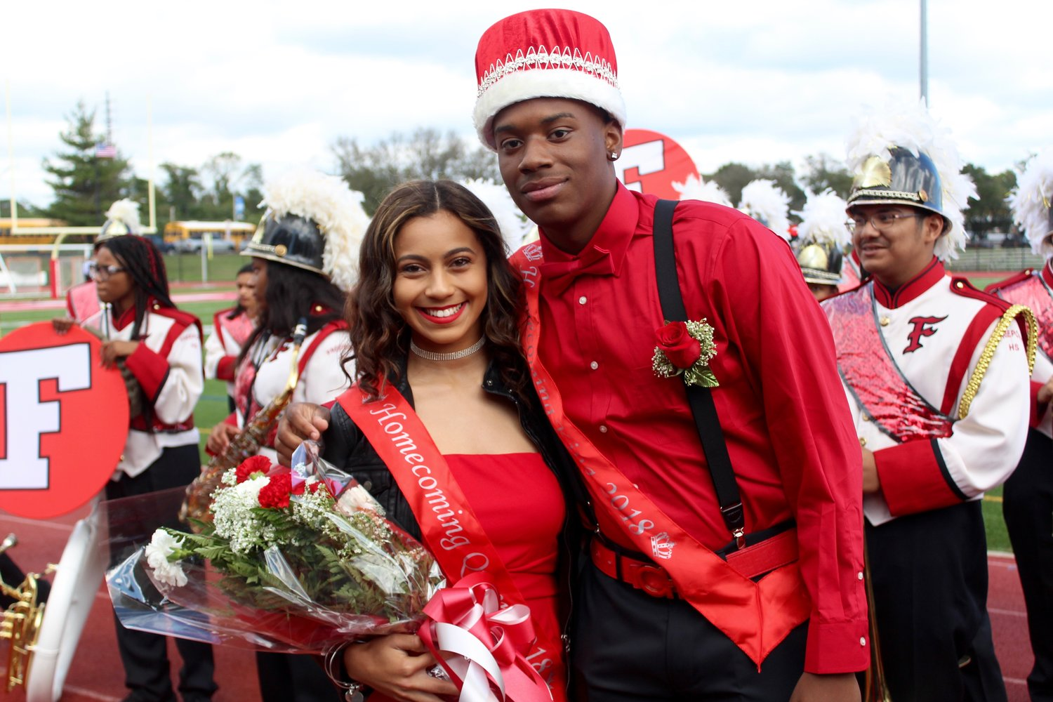 The Freeport High School Homecoming queen and king, Mia Almonte and Thornton Brown.