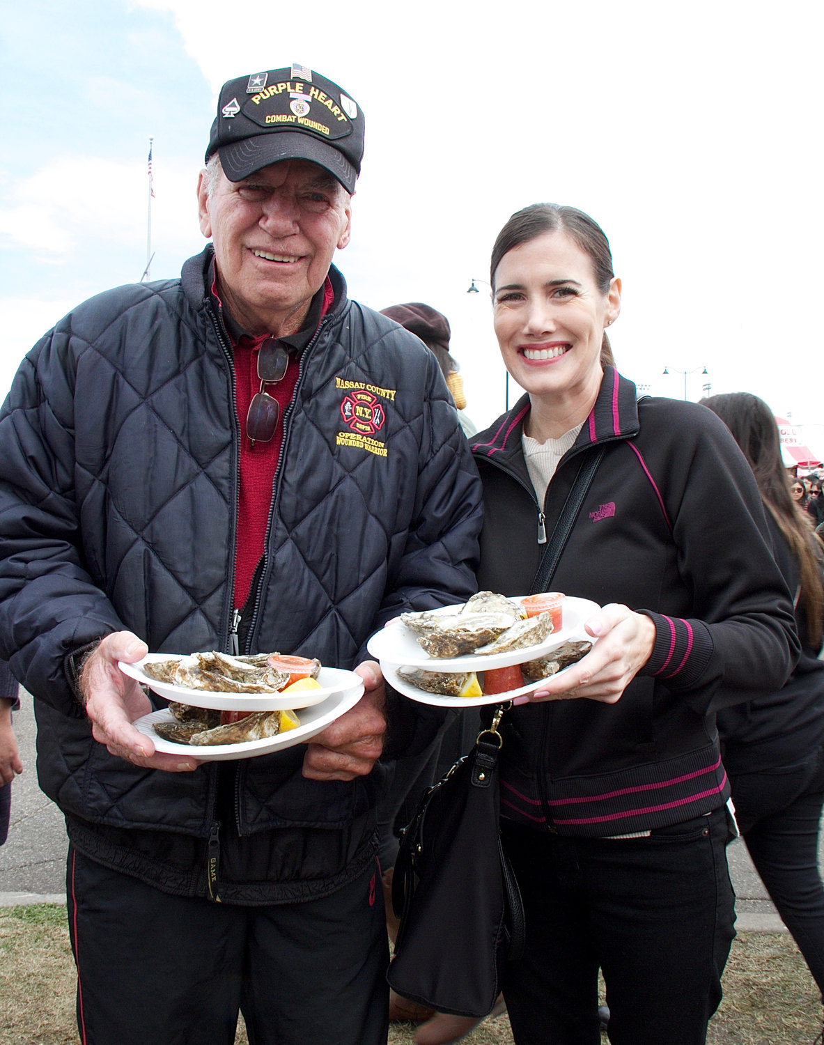 Michael Dolan and his daughter Colleen bought some oysters.