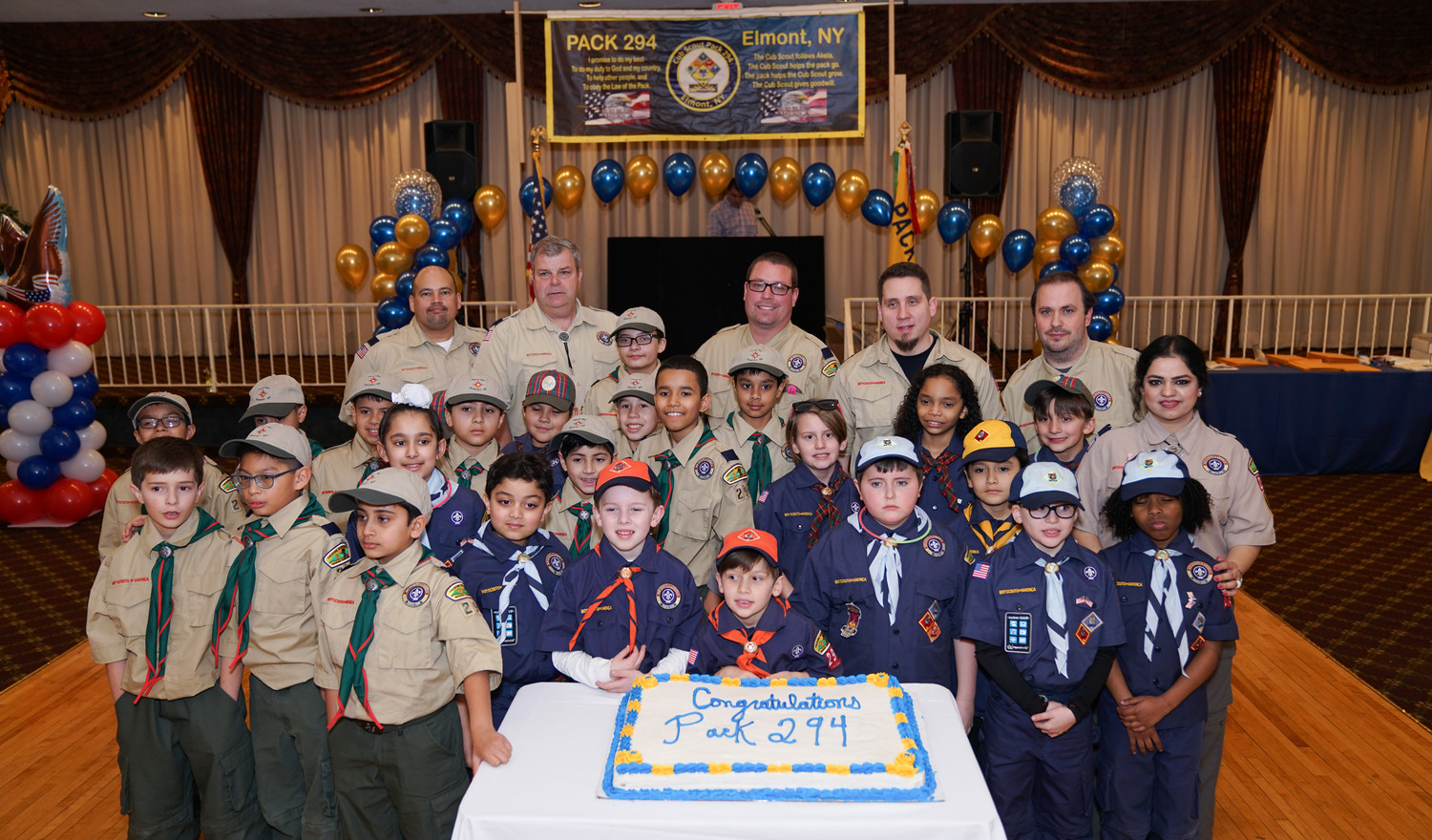 Elmont Cub Scout Pack 294 held a moving-up ceremony for younger scouts earlier in the year. Nine girls have showed interest in joining the group after the BSA announced that girls would be able to join scouts in 2018.