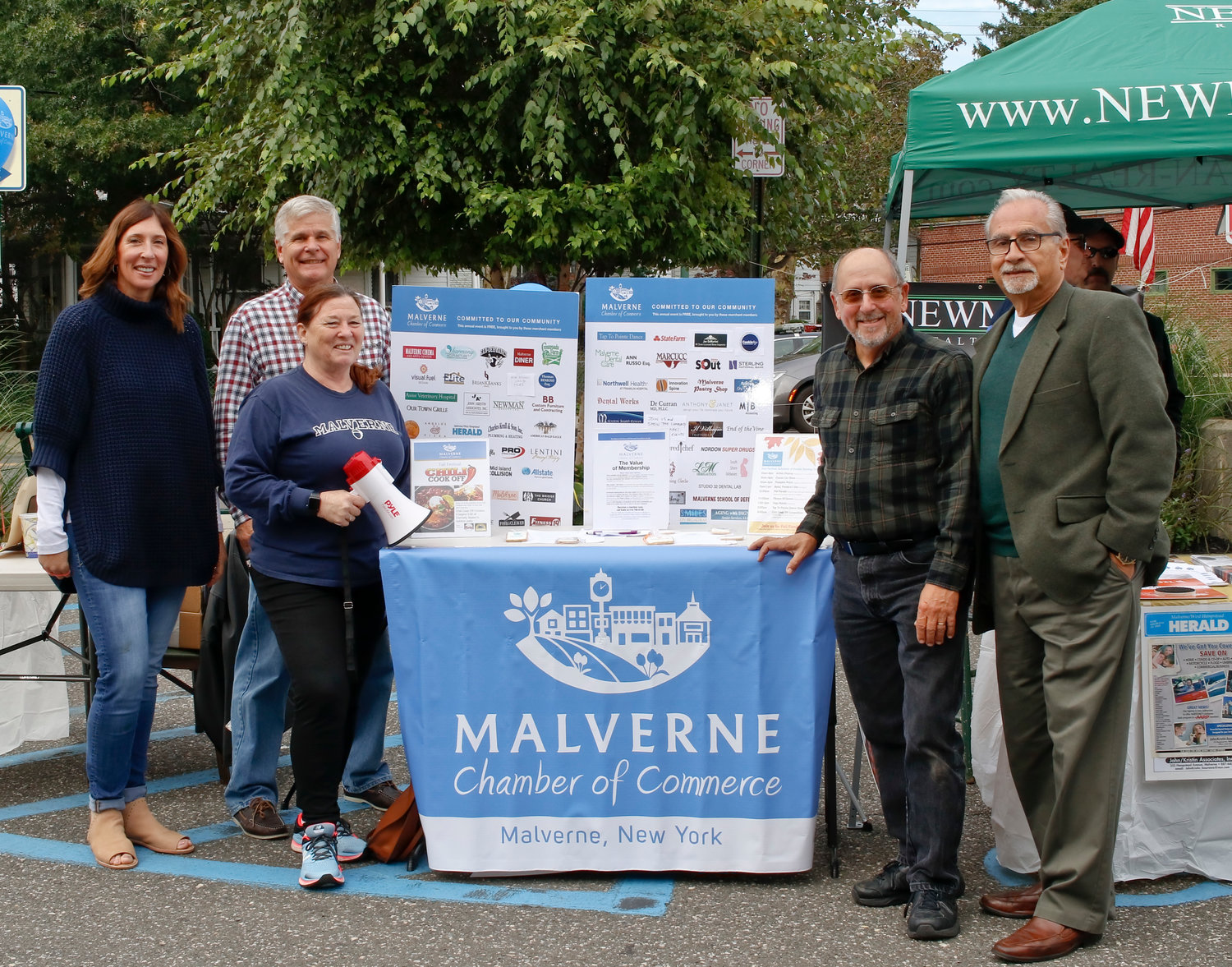 Elizabeth Krull, far left, has helped organize numerous events in the village as a member of Malverne's Chamber of Commerce.