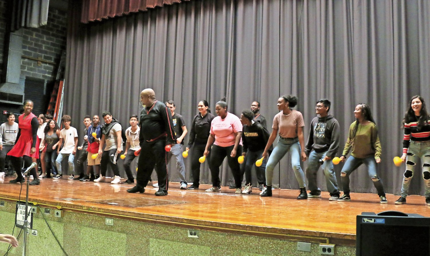 Members of the Phyllis Rose Dance Company taught students at West Hempstead High School traditional dances from Latin America during an assembly on Oct. 12.