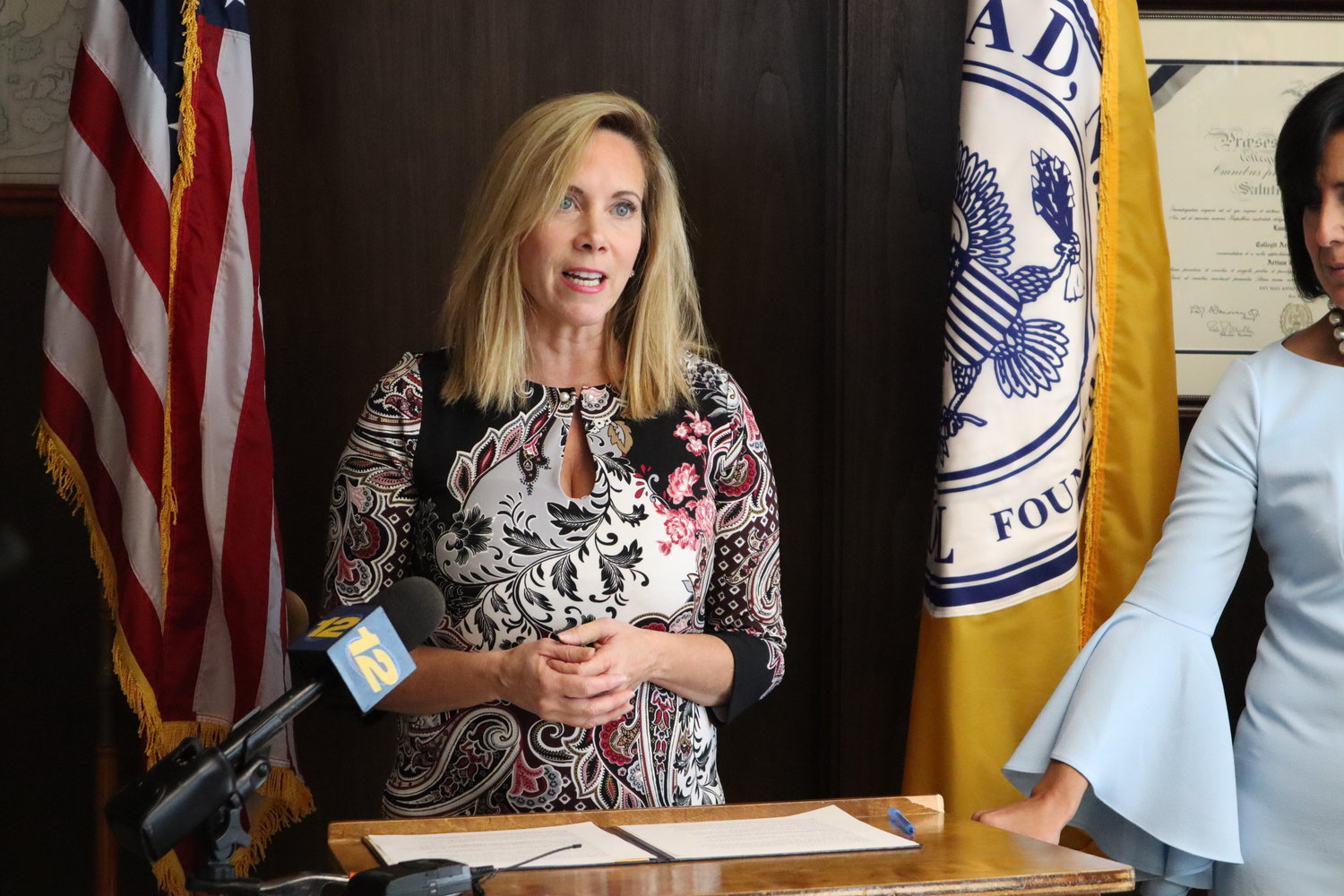 "Hempstead Town Supervisor Laura Gillen on Oct. 23 offered a ""compromise budget,"" incorporating some of the changes the Republican-majority Town Board added to her original budget."