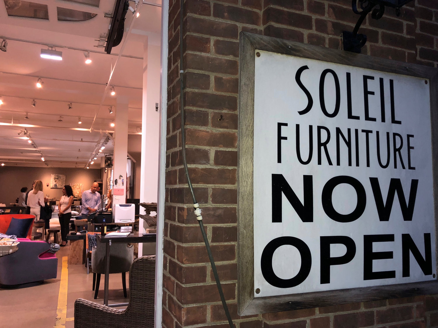 Soleil exists in the structure of an old firehouse in Roslyn, and produces artfully handcrafted furniture and other custom pieces.