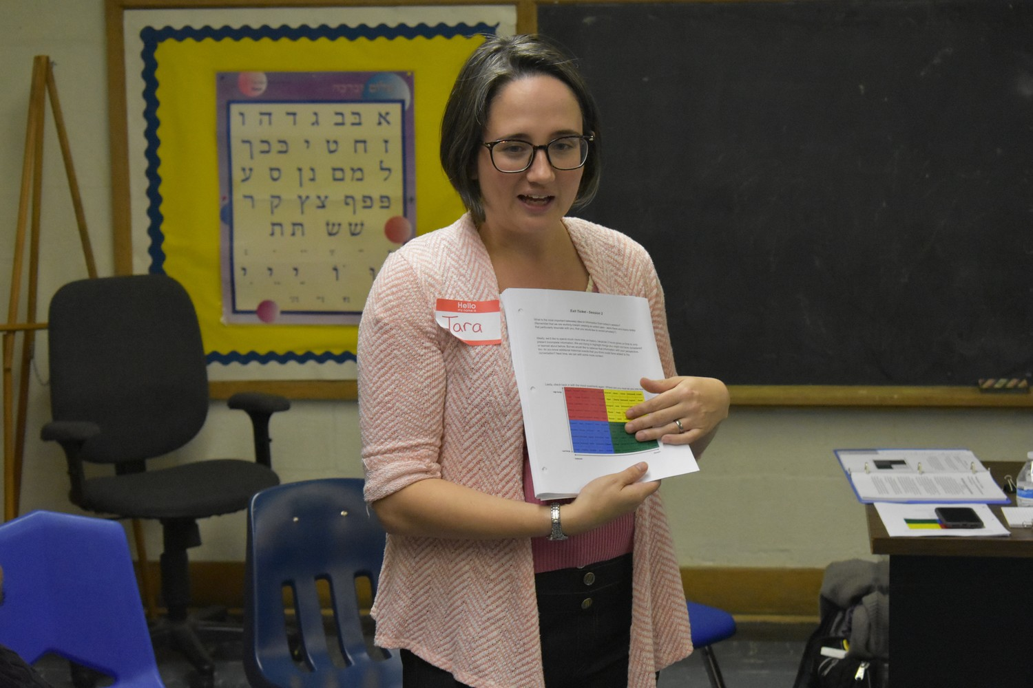 Tara Brancato, an Anti-Racism Project facilitator, asked attendees at last year's session to record how they felt about delving into the history of racism.